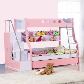 双层木质子母床上下铺儿童床批发