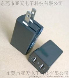 私模新款 美国UL认证双usb充电器 2100mA+1A 美国ETL认证充电器 日本PSE认证充电器 双usb苹果充电器
