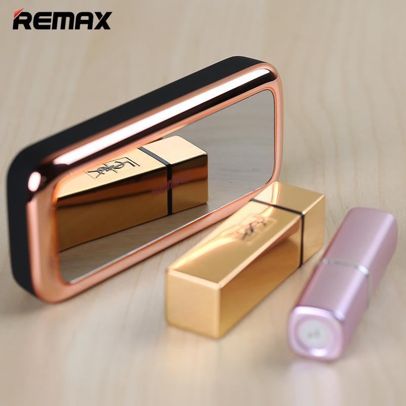 REMAX睿量米拉系列5500毫安培單USB移動電源化妝鏡系列充電寶聚合物移動電源蘋果安卓通用