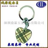 厂家专业定制创意苹果形状锌合金钥匙扣 促销活动小礼品制作