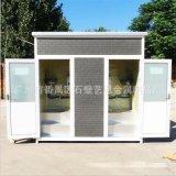 廠家定製防腐木移動環保廁所 簡易移動公廁衛生間戶外配送包安裝