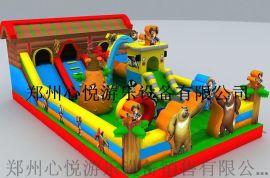 郑州充气大滑梯-新款儿童蹦蹦床厂家
