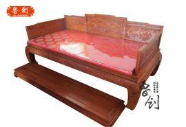 东阳鲁创红木厂家直销非花罗汉床,东阳木雕,红木家具价格