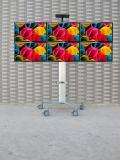 晶固六屏電視機移動支架多屏會議觸摸屏移動展示架