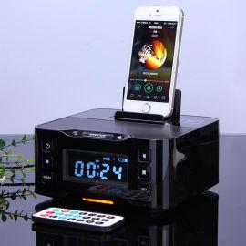 苹果音响iPhone手机充电底座床头闹钟无线蓝牙音箱全遥控