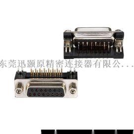 车针DR连接器DR15母弯插板铆塑胶支架