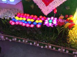 LED室外草坪仿真玫瑰插地花灯