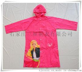工厂生产PVC儿童书包雨衣,卡通印图