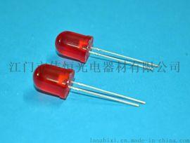 F8圆头高亮红散光f8MM红发红长脚 LED发光二极管直插灯珠 指示灯