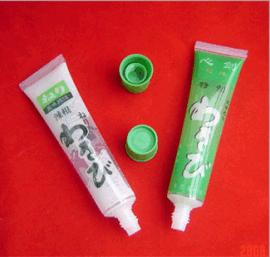 食品软管包装、芥辣软管包装、山葵软管