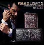 鱷魚皮男士商務手包