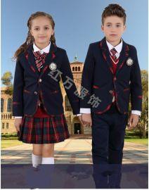 上海紅萬夏裝中小學生幼兒園校服園服定做純棉兒童校服