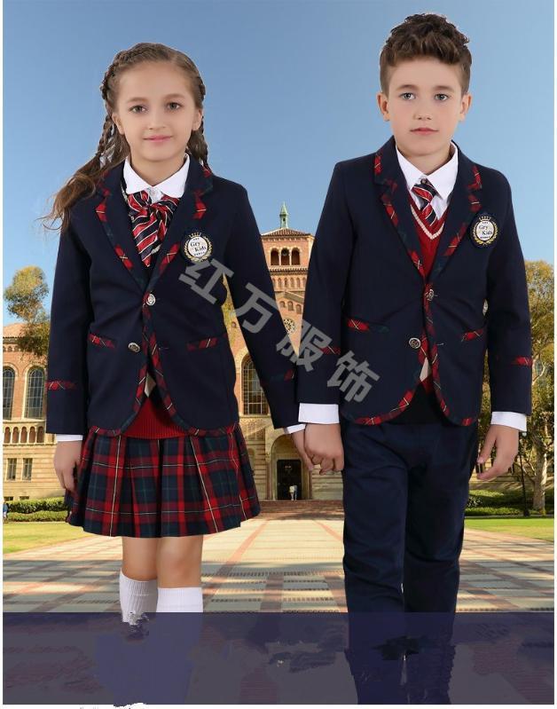上海紅萬夏裝中小  幼兒園校服園服定做純棉兒童校服