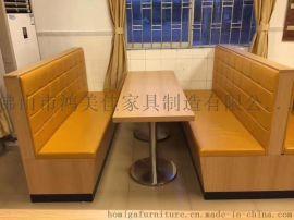 西餐廳餐桌椅,卡座餐桌椅鴻美佳廠家供應