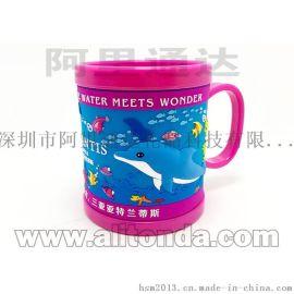 卡通马克杯 动物园马克杯 立体浮雕软胶杯子
