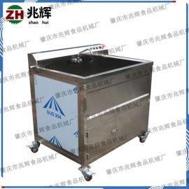 厂家自产自销单缸洗菜厨房配套设备 不锈钢气泡清洗蔬果机