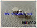 厂家供应D5*10mm钕铁硼圆形磁柱,侧打孔