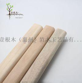 厂家直销天然香樟木挂衣杆高档实木衣杆法兰托