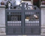 北京定制安装别墅铝艺庭院门, 防盗铝艺平移门,