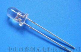 5mm圆头紫光LED,385nm验钞紫光灯珠