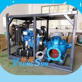 大流量移动式柴油机离心泵 防汛移动泵车 柴油机水泵机组