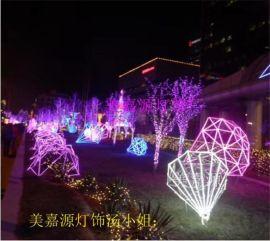 户外街道亮化灯,LED牡丹花造型灯