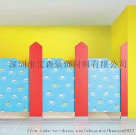 宝森厂家直销幼儿园抗倍特板卫生间隔断厕所隔板