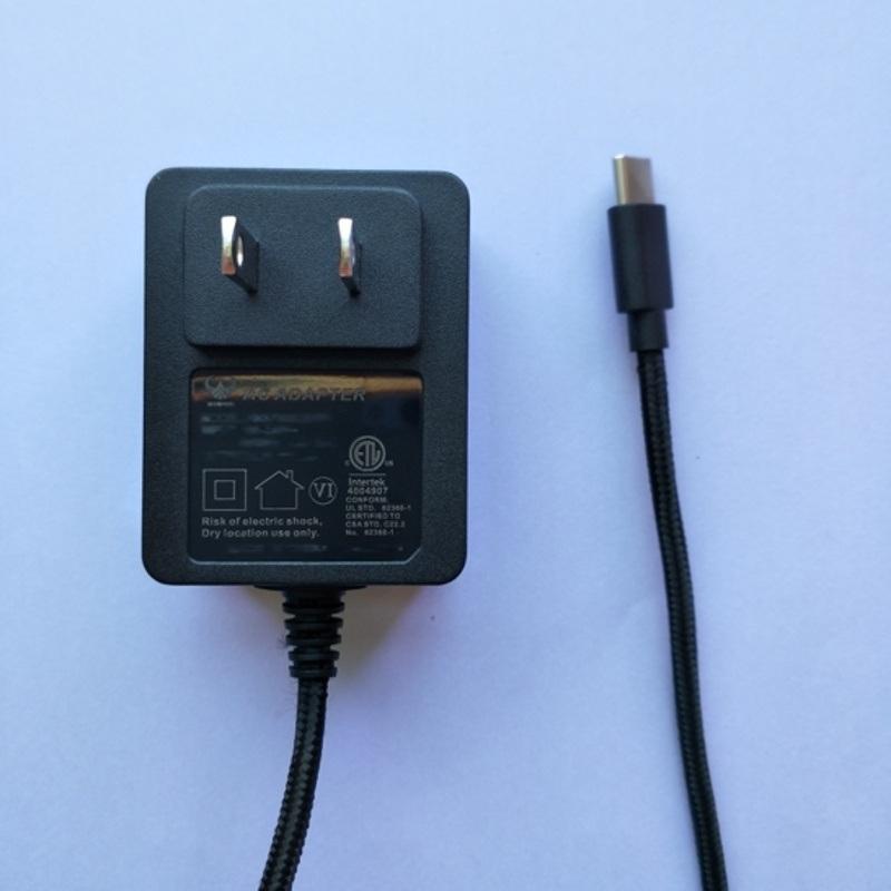5V2.5A美规电源适配器,ETL认证编织线电源
