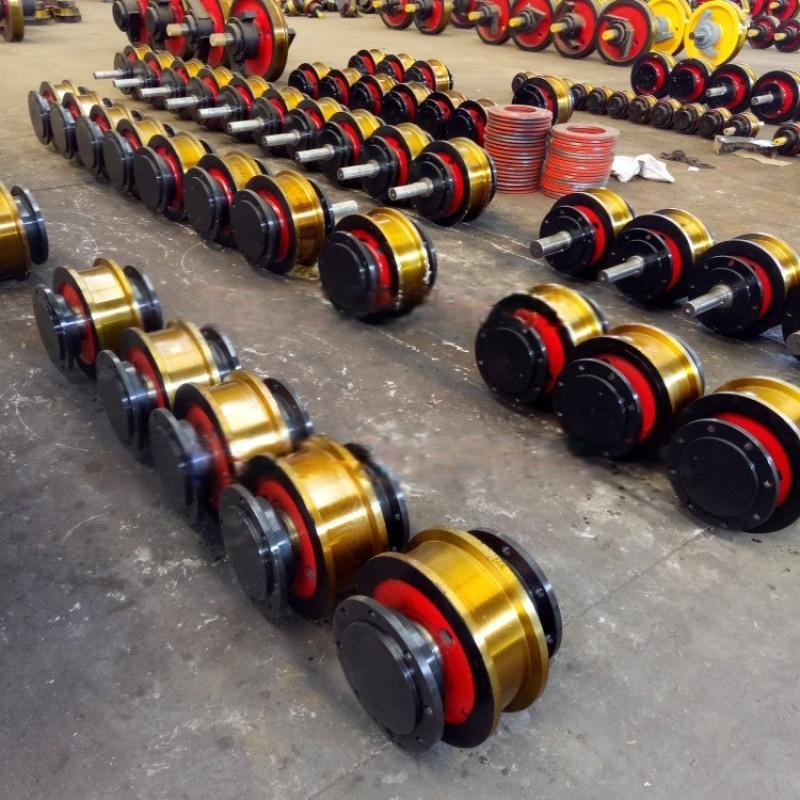 热销800单双边车轮组 来图定制起重机车轮组淬火