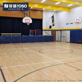 体育运动木地板篮球馆木地板枫桦木运动地板