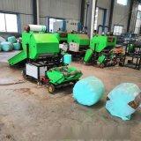 畜牧业饲料青贮打捆机 全自动青贮裹包机工作视频