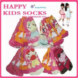 立体儿童袜子 加厚儿童袜 卡通纯棉毛圈袜子