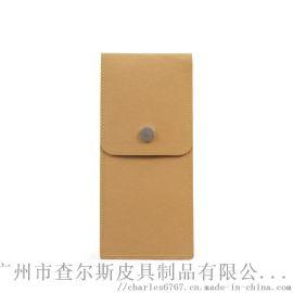 定制水洗牛皮纸笔袋保护套防水收纳袋日本简约铅笔袋