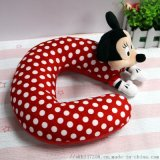 毛绒玩具厂家加工生产公仔米奇米妮卡通颈枕来图订做