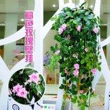 仿真玫瑰花藤 吊兰 假花塑料花 玫瑰花藤条装饰花 墙壁装饰壁挂花