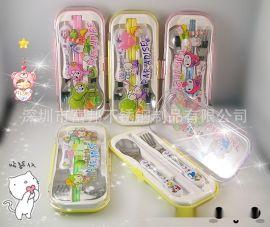 校园礼品, 儿童餐具, 葫芦柄餐具勺叉筷三件套