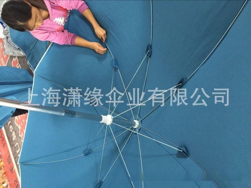 棉布沙滩伞定制、铝合金伞架带转向沙滩伞、棉帆布遮阳伞定做工厂