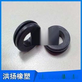 防震缓冲橡膠墊 黑色圆形橡膠墊 防撞橡膠密封垫