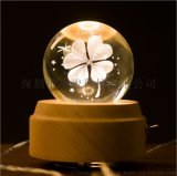 水晶球音乐旋转灯 LED床头灯sankyo机芯