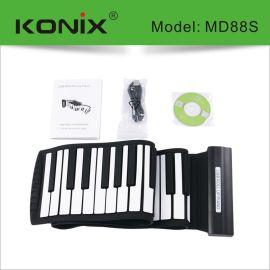 科匯興88鍵手捲鋼琴 多功能兒童電子琴 88鍵矽膠摺疊電鋼琴