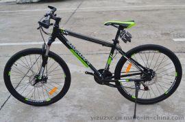 亿族山地车 26寸21速铝合金山地自行车 碟刹变速山地自行车