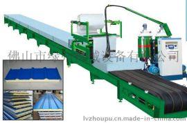 佛山绿州供应聚氨酯PU彩钢瓦复合保温环保夹芯板自动生产线
