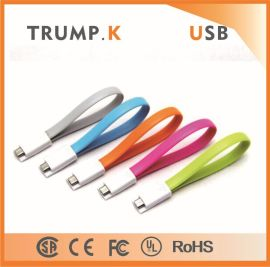 iphone5/5S 数据线 面条磁铁扁平数据线iphone6/plus USB充电线