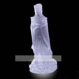 琉璃妈祖摆件礼品,福州琉璃佛像工艺品,深圳琉璃妈祖佛像定做