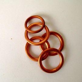 大量库存6*8*1.1MM铜包石棉垫 铜垫圈 可定做