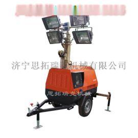 7米型拖车式应急照明灯车 外贸出口型码头港口移动柴油照明灯车 移动灯塔厂家
