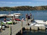 全新进口高分子聚乙烯浮筒 V型摩托艇码头 水上浮动码头生产厂家