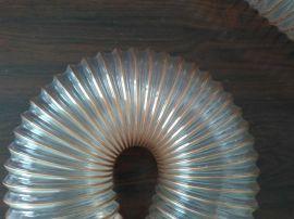 木工机械吸尘管百盛塑胶厂家供应TPU钢丝伸缩耐磨软管