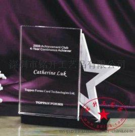连锁企业授权水晶  经销商授权牌 水晶奖牌