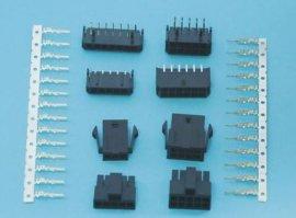 MOLEX3.0MM 双排 ,公/母胶壳 DIP/SMT型针座 端子